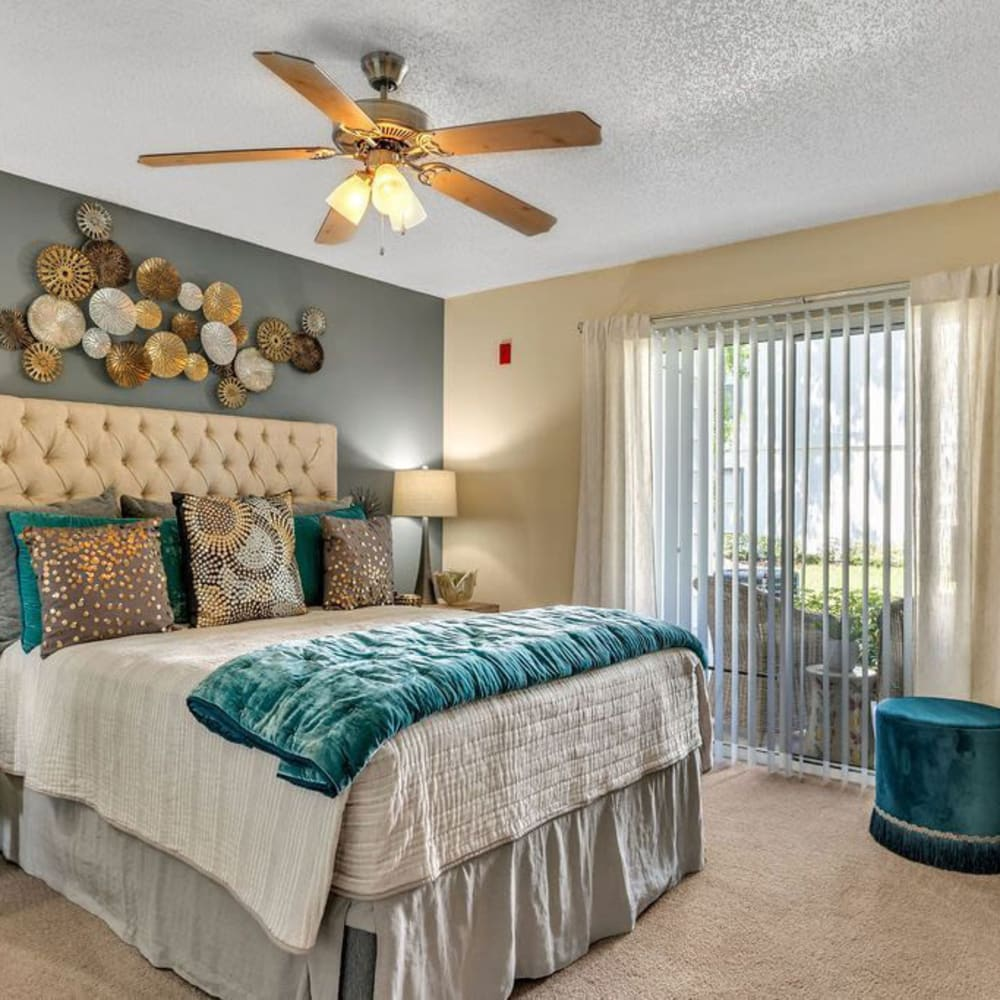 A large apartment bedroom at The Braxton in Palm Bay, Florida