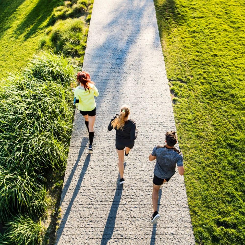 Residents on a run in Raleigh, North Carolina near LATITUDE on Hillsborough