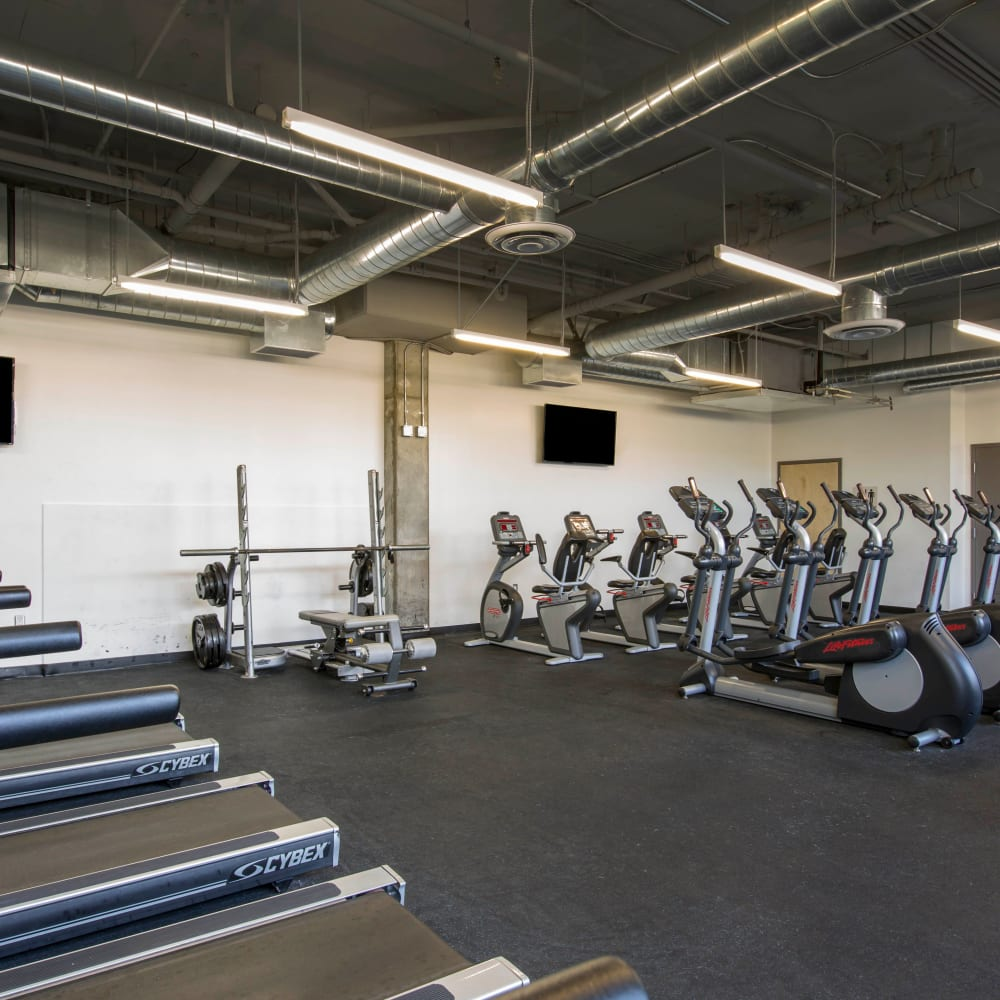 Fitness center at ICON in Isla Vista, California