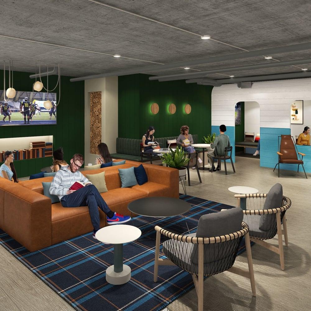 Community lounge at UNCOMMON Flagstaff in Flagstaff, Arizona
