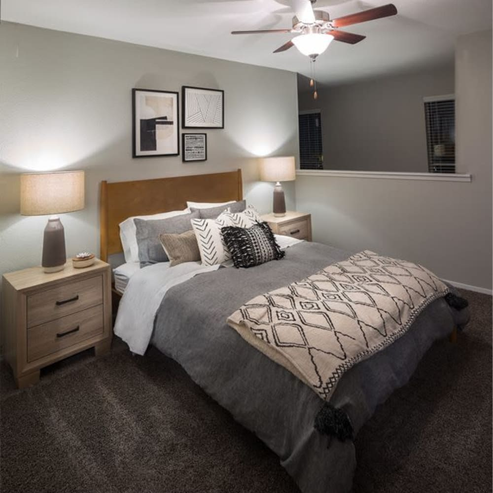 Model bedroom at Broadstone Briar Forest in Houston, Texas