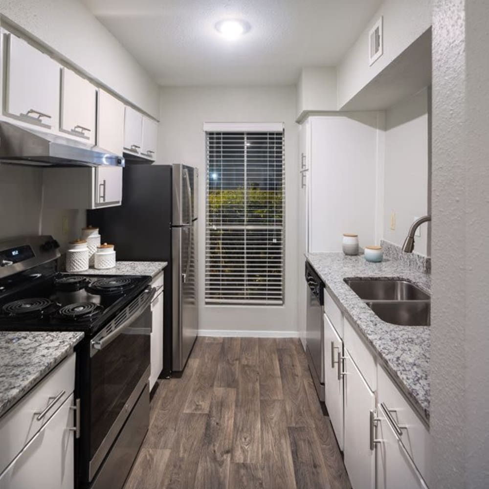 Spacious kitchen at Broadstone Briar Forest in Houston, Texas