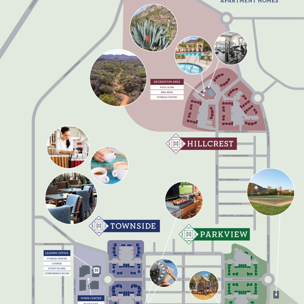 Overall community campus site plan for Mission Hills in Camarillo, California