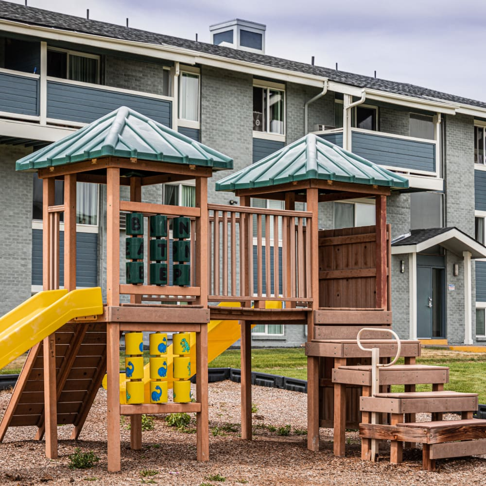 Playground area at Florida Station Apartments in Aurora, Colorado