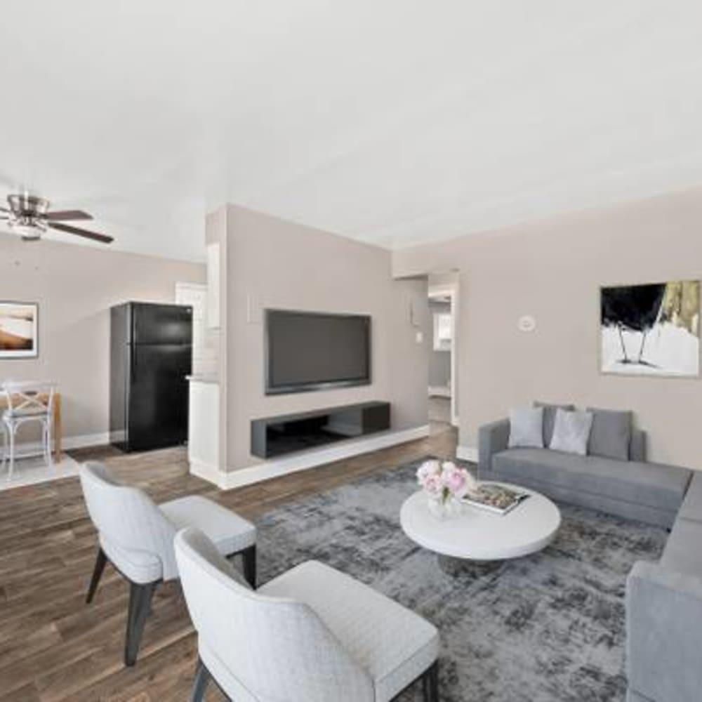 Open-concept living room at The Phoenix in Brighton, Colorado
