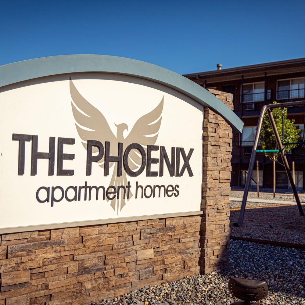 Main sign at The Phoenix in Brighton, Colorado