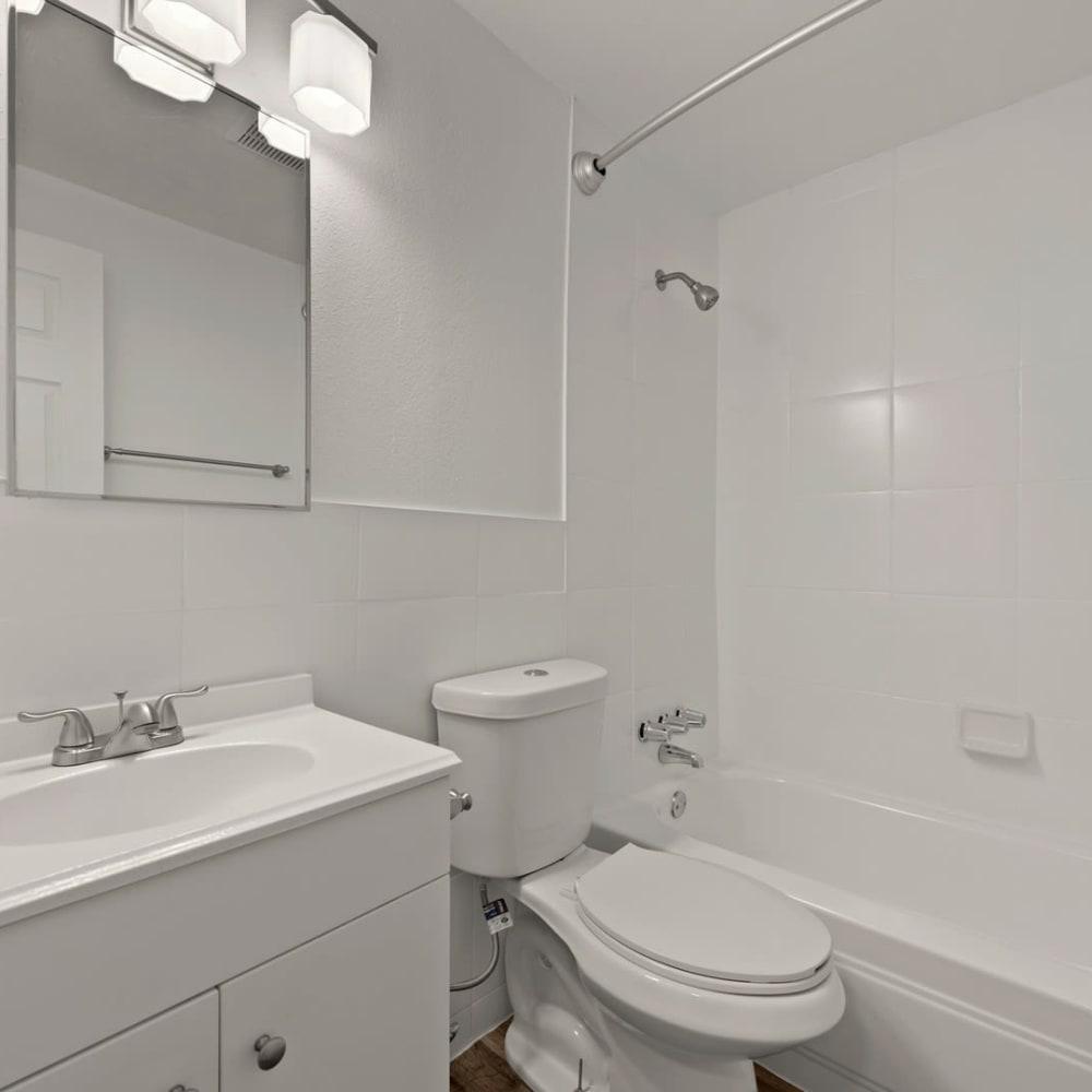 Spacious bathroom at The Phoenix in Brighton, Colorado