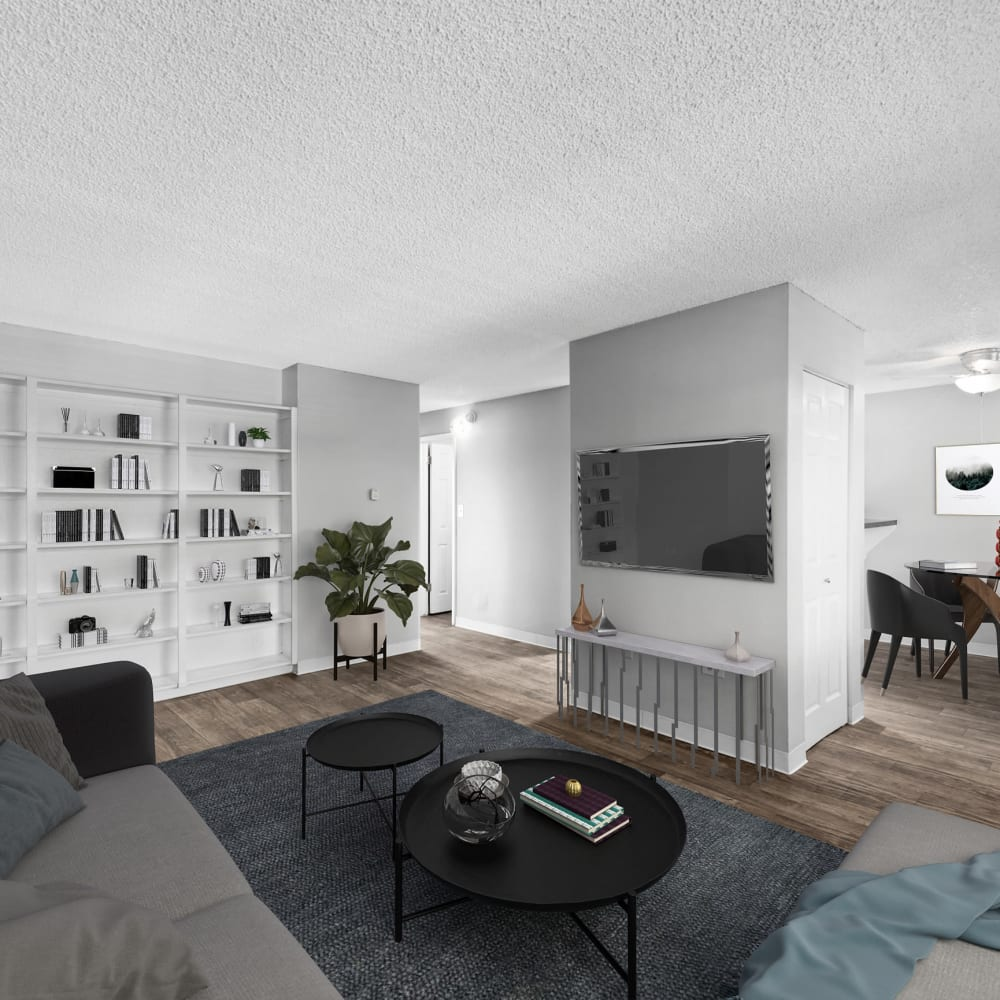 Modern living room at The Wesley in Denver, Colorado