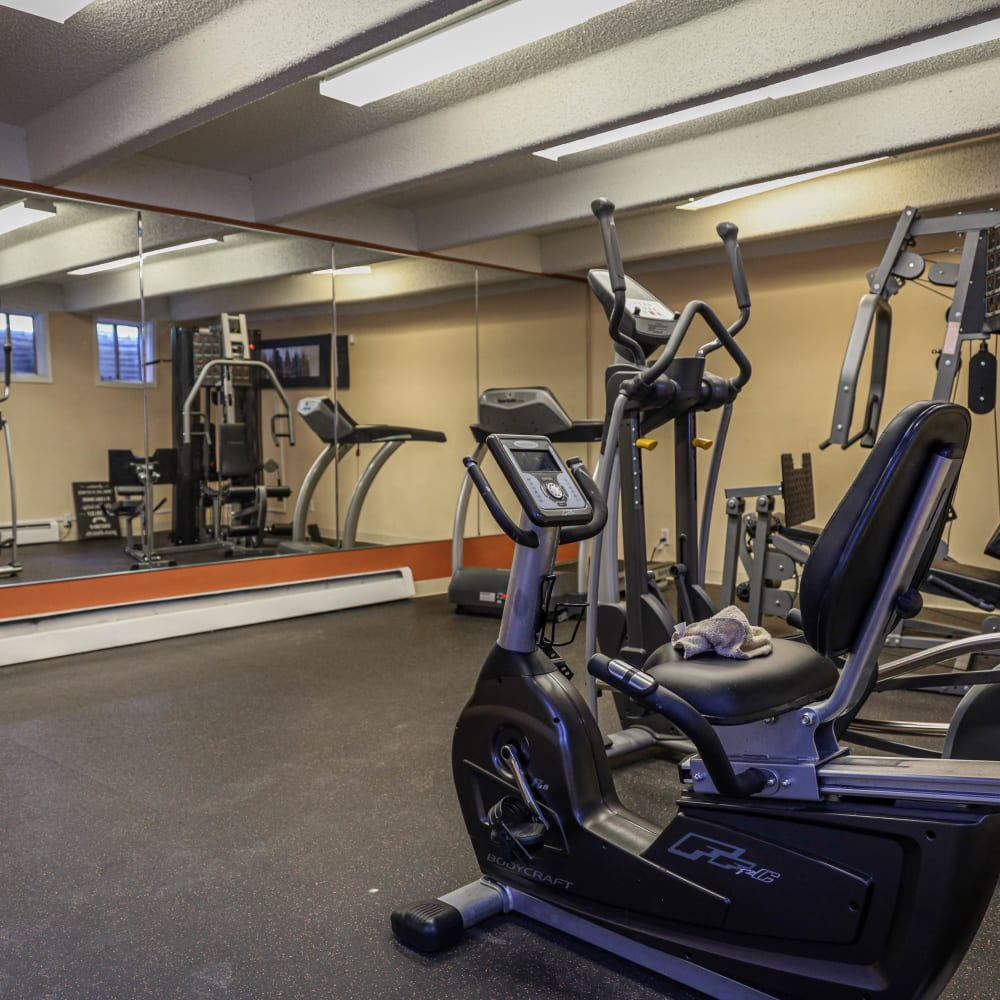 Fitness center at The Wesley in Denver, Colorado
