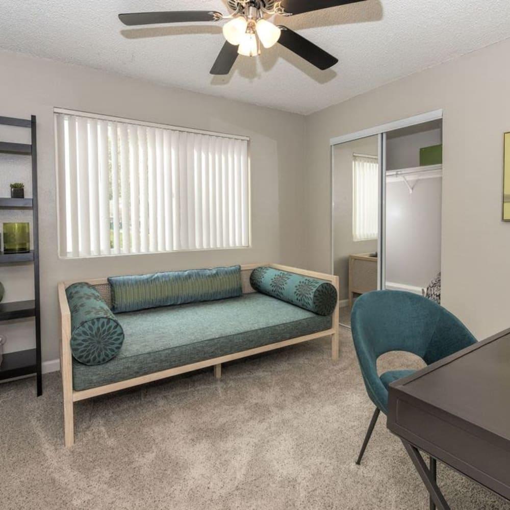 Guest bedroom at The Davenport in Sacramento, California