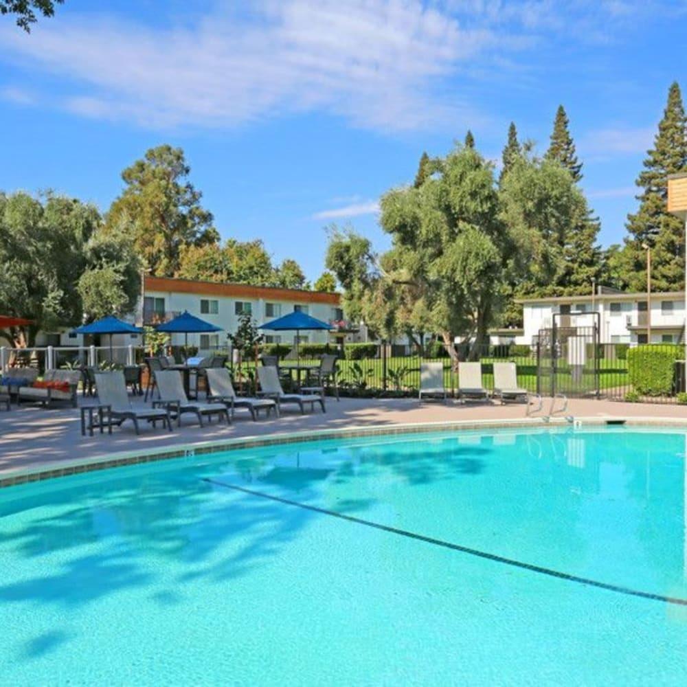 Outdoor pool at The Davenport in Sacramento, California