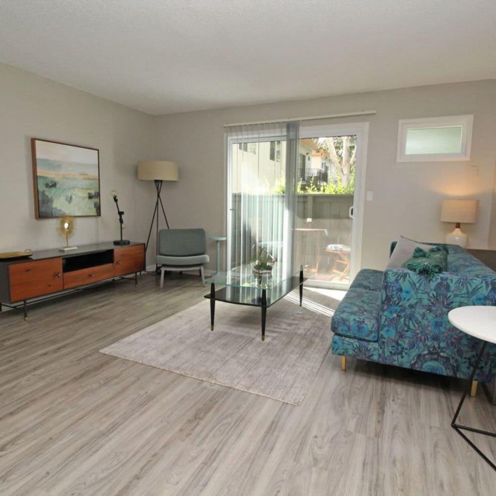Spacious living room at The Davenport in Sacramento, California