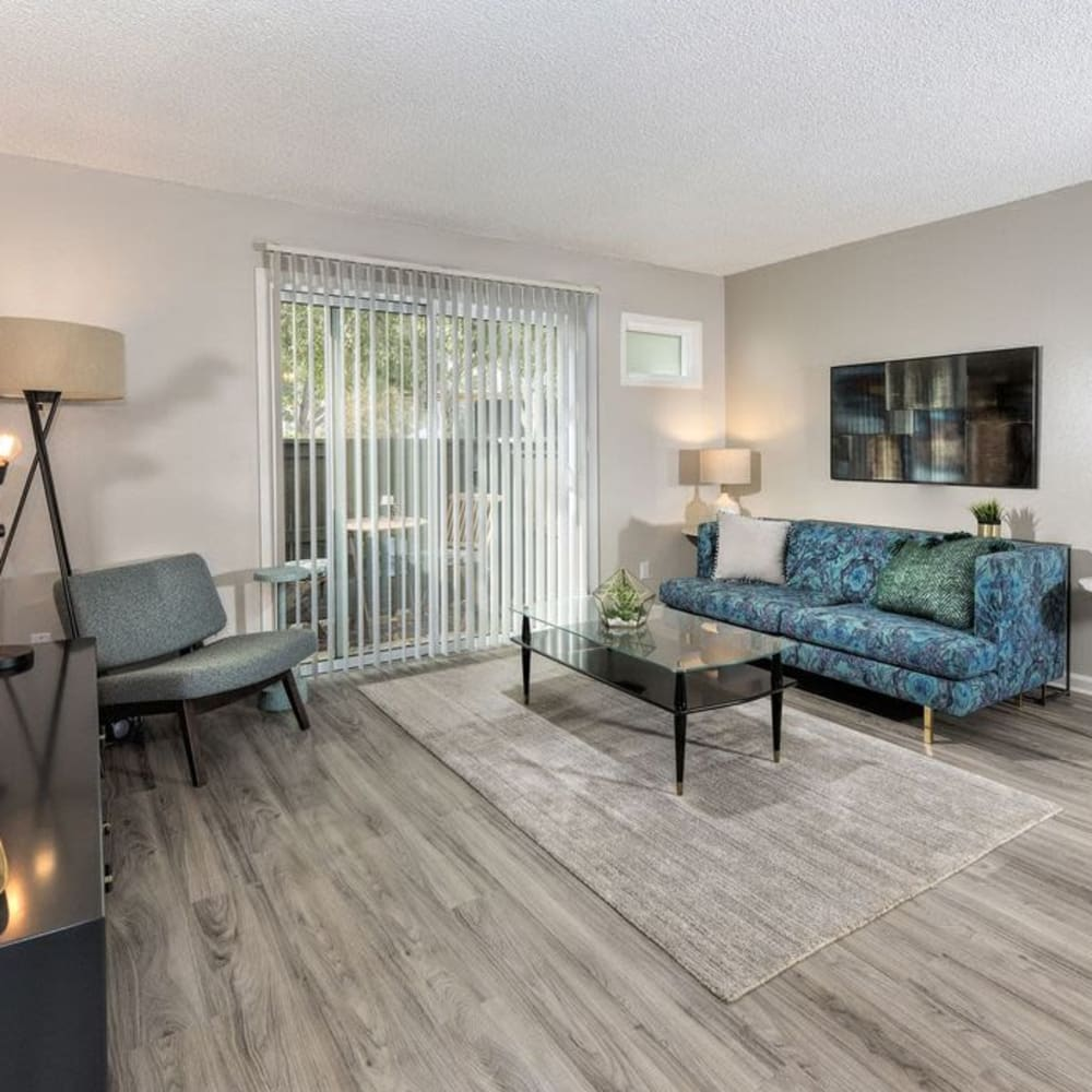 Spacious floor plan layout at The Davenport in Sacramento, California