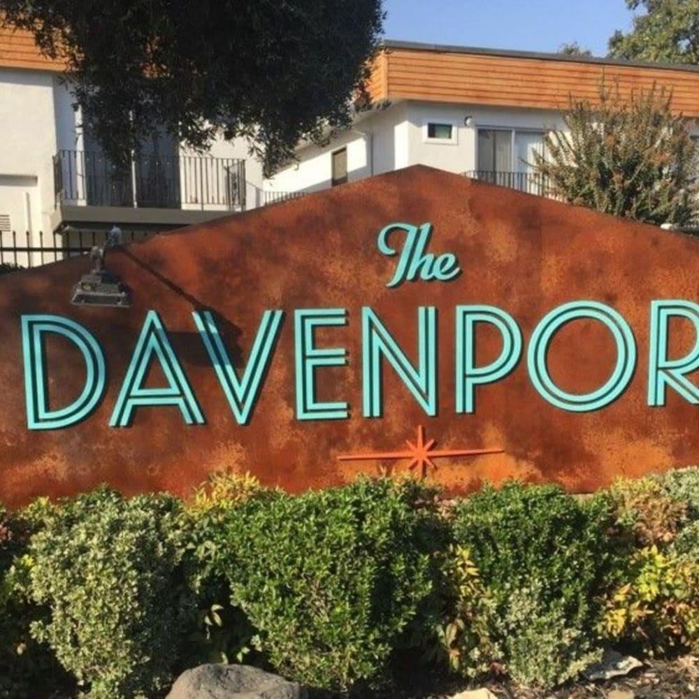 Front sign at The Davenport in Sacramento, California