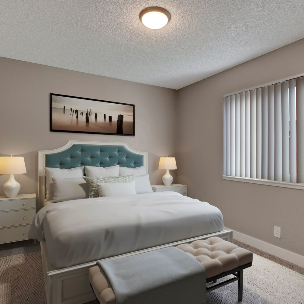 Bedroom at The Hawthorne in Carmichael, California