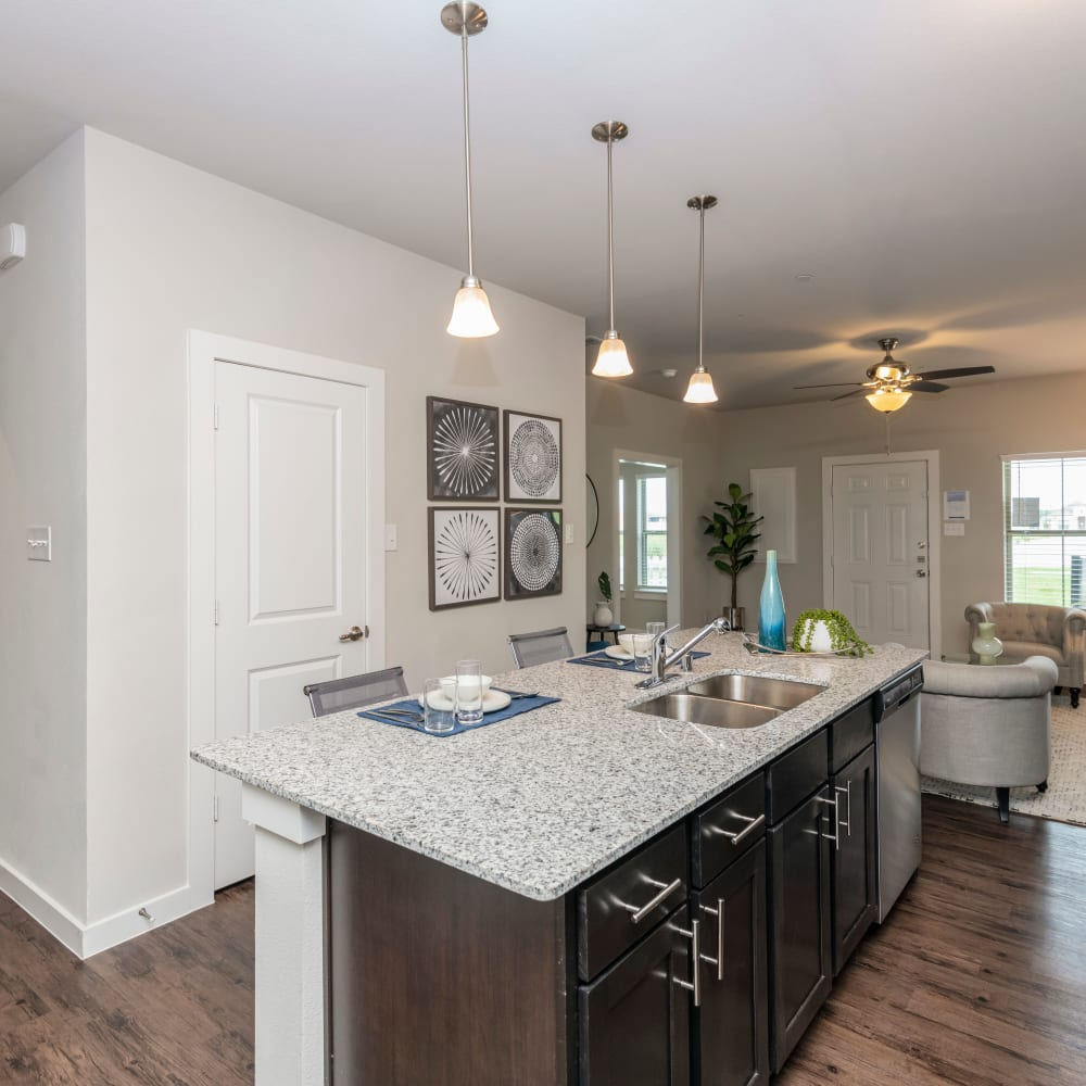 Kitchen at The Townhomes at BlueBonnet Trails in Waxahachie, Texas