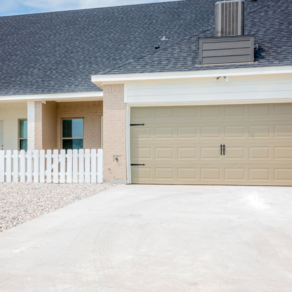 Garage view at The Townhomes at BlueBonnet Trails in Waxahachie, Texas