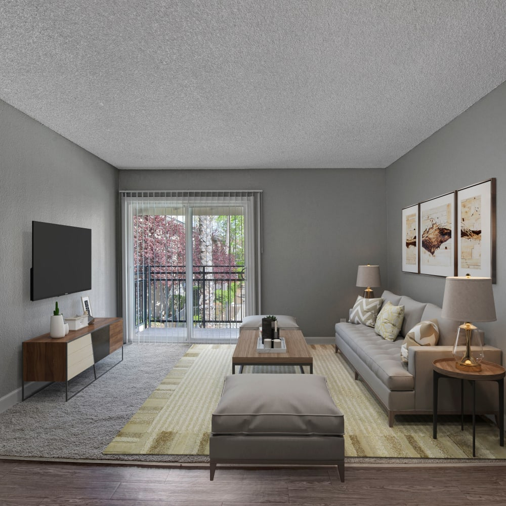 Living room at The Archer in Sacramento, California