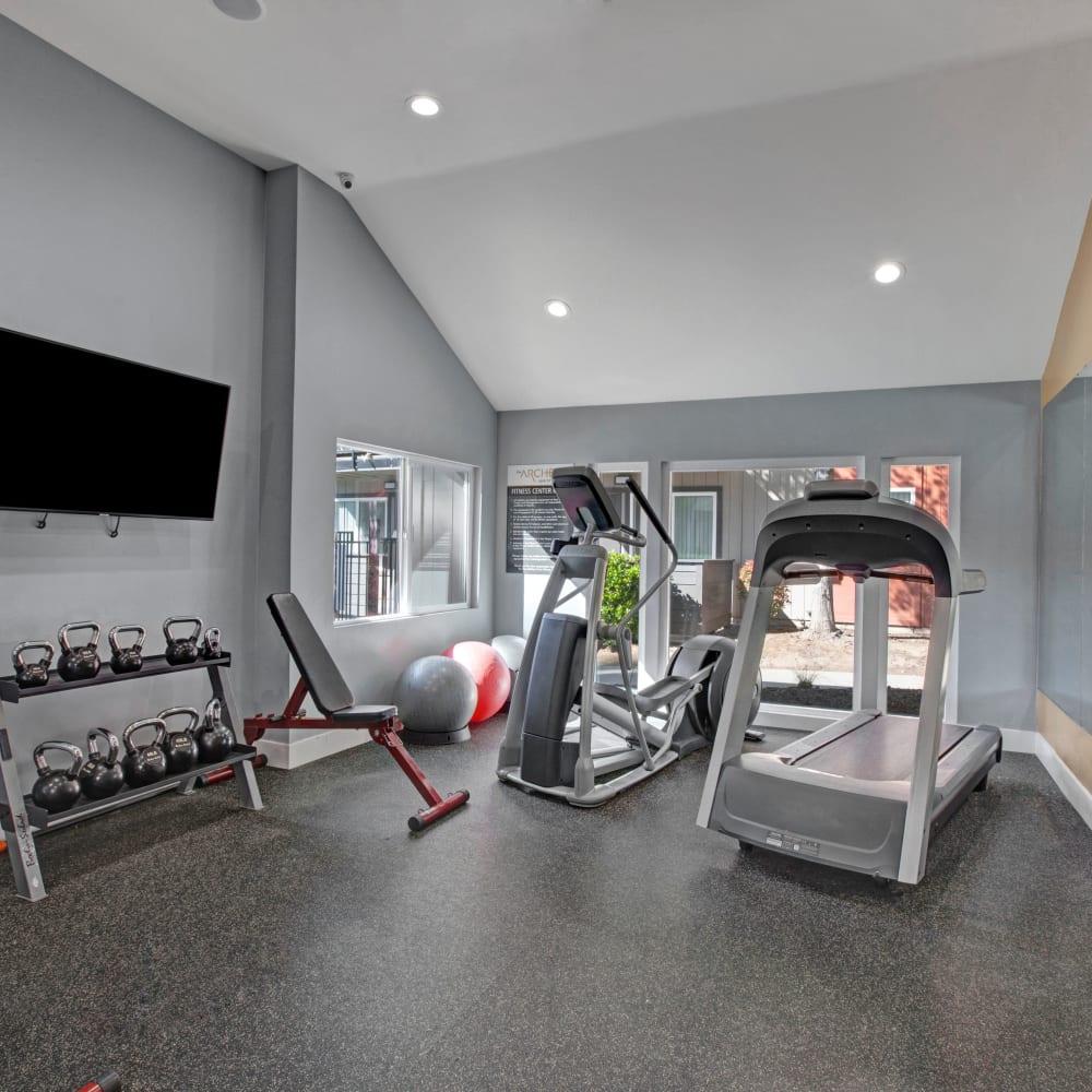 Gym at The Archer in Sacramento, California