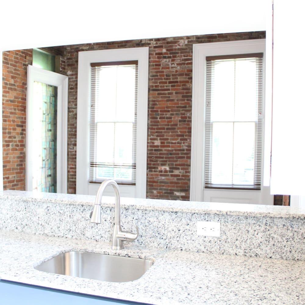 Granite countertop at The Maven @ 806 in Louisville, Kentucky