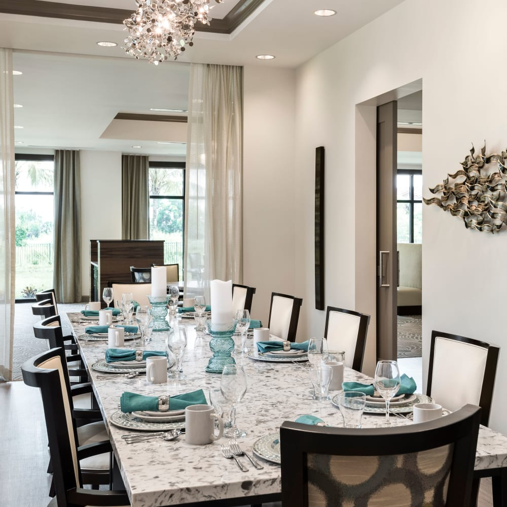 Dining Room at Inspired Living Delray Beach in Delray Beach, Florida