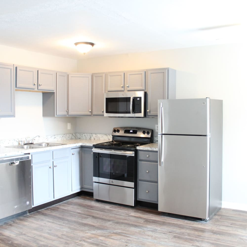Renovated kitchens at Clifton Ridge Apartments in Louisville, Kentucky