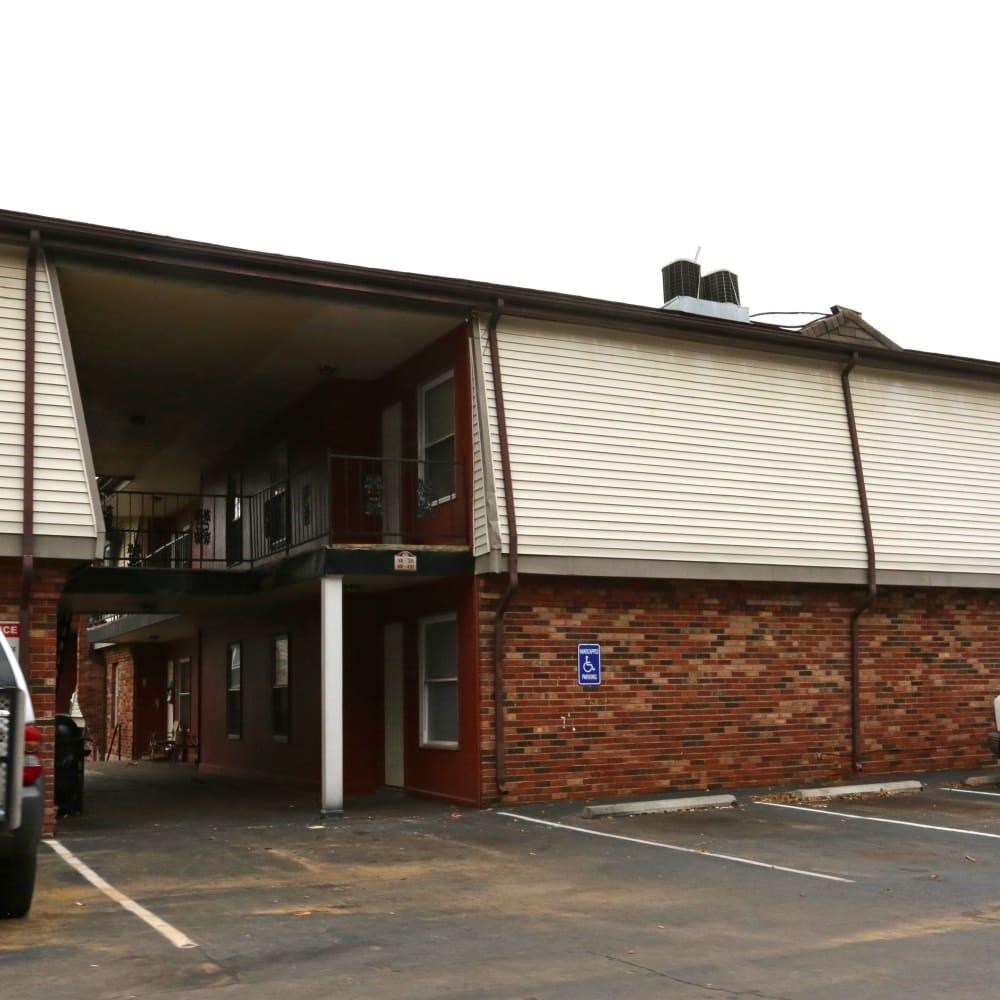 Parking lot at Clifton Ridge Apartments in Louisville, Kentucky