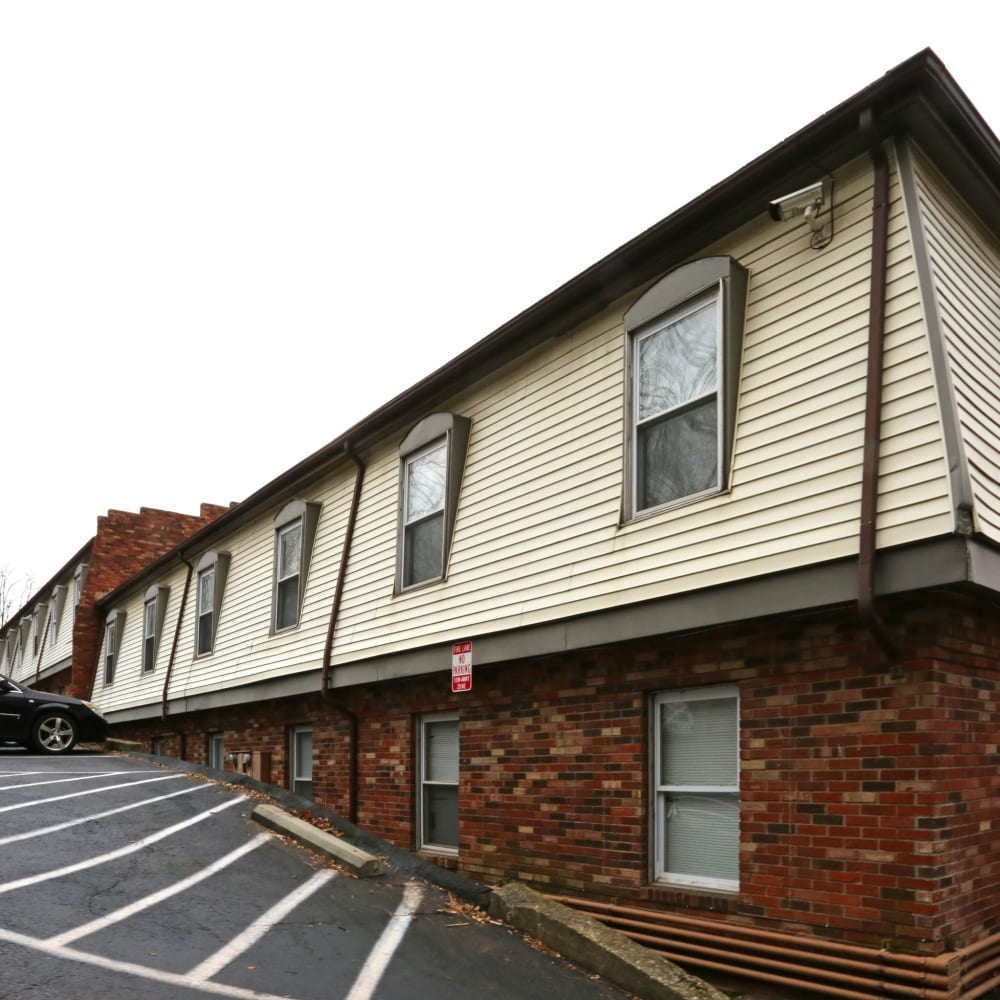 Parking spaces at Clifton Ridge Apartments in Louisville, Kentucky