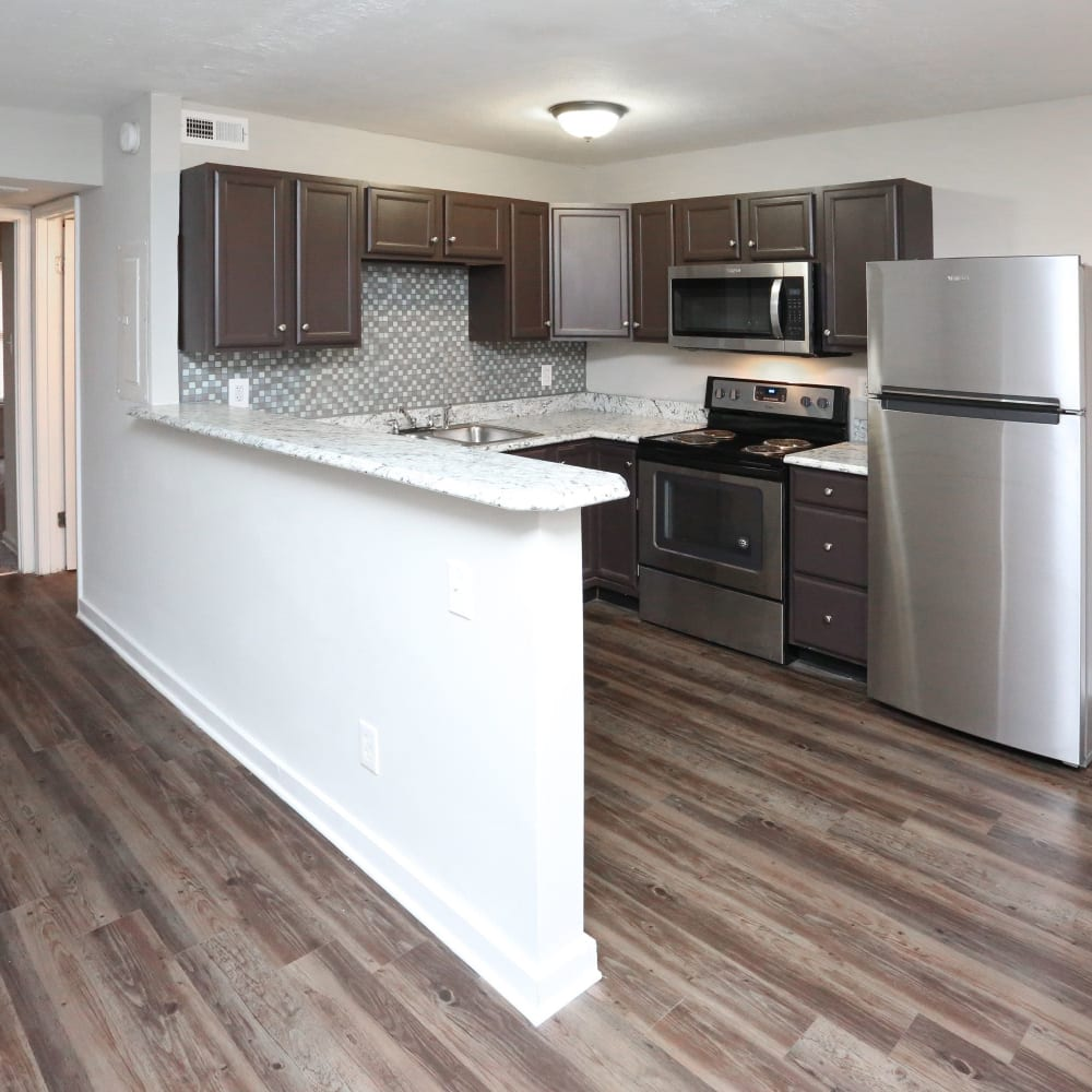 Large kitchen at Clifton Ridge Apartments in Louisville, Kentucky
