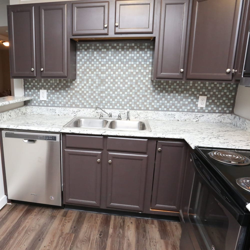 Kitchen cabinets at Clifton Ridge Apartments in Louisville, Kentucky