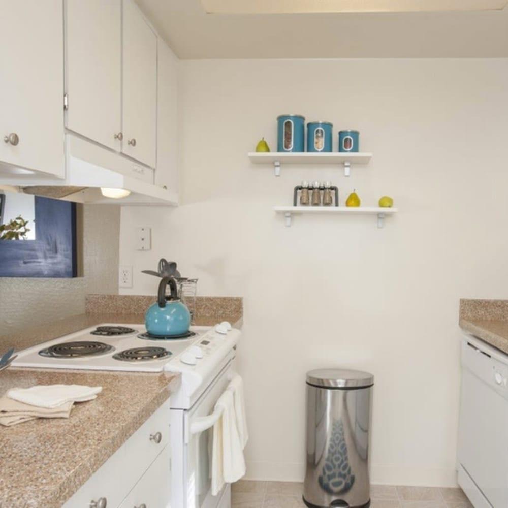 Kitchen at River Blu in Sacramento, California