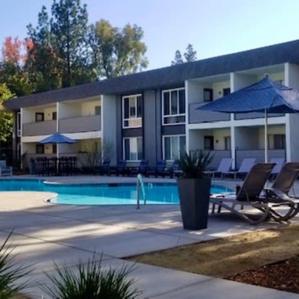 Pool area at River Blu in Sacramento, California