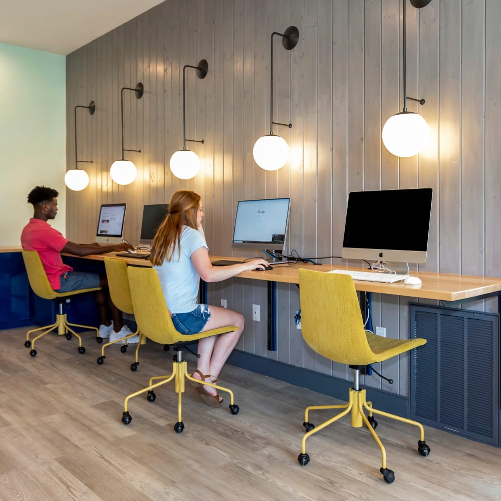 Community study spot at UNCOMMON Wilmington in Wilmington, North Carolina