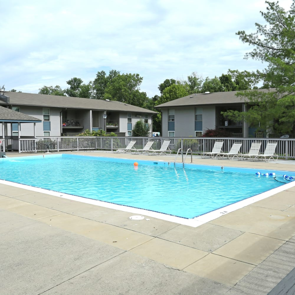 Swimming pool at Willowbrook Apartments in Louisville, Kentucky