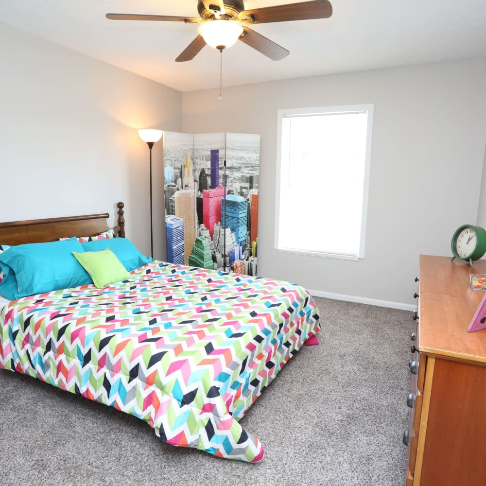 Bedroom at Willowbrook Apartments in Louisville, Kentucky