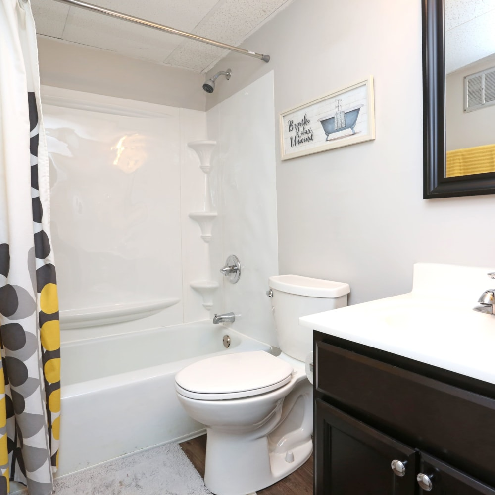 Spacious bathroom at Willowbrook Apartments in Louisville, Kentucky