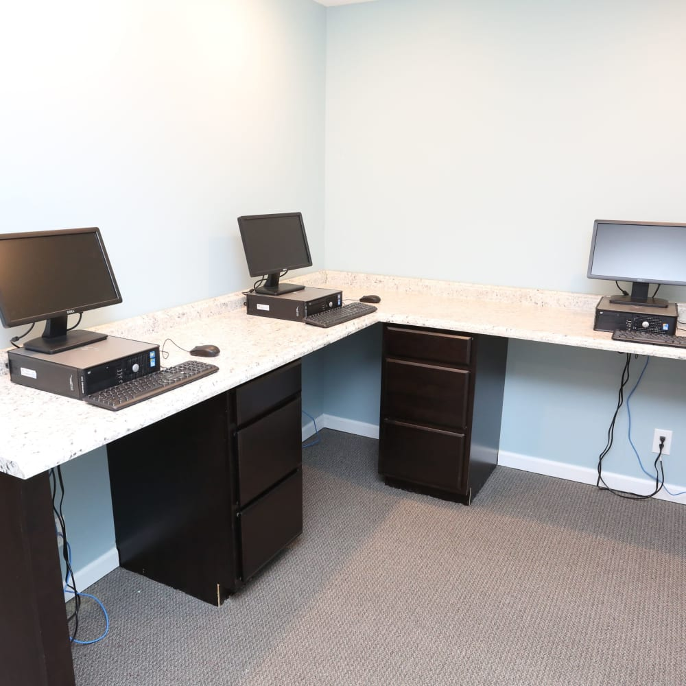 Business center at Willowbrook Apartments in Louisville, Kentucky
