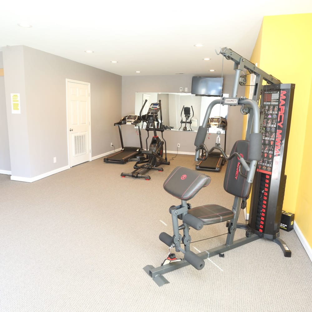Fitness center at Willowbrook Apartments in Louisville, Kentucky