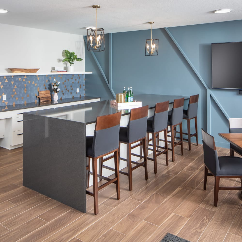 Community kitchen at Oaks Minnehaha Longfellow in Minneapolis, Minnesota