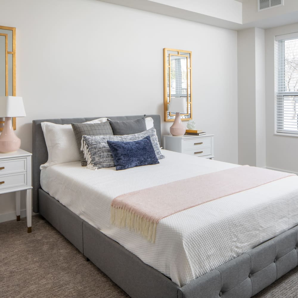 Primary bedroom at Oaks Minnehaha Longfellow in Minneapolis, Minnesota