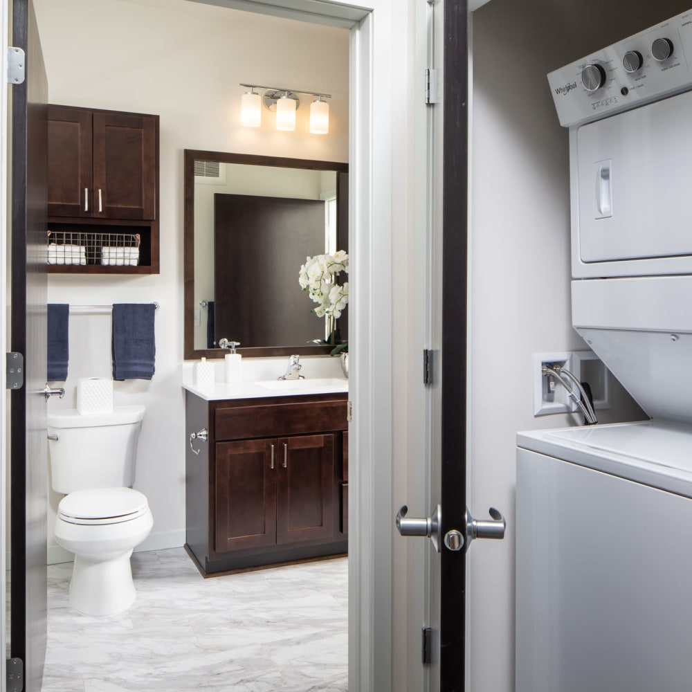 In-home washer and dryer at Oaks Minnehaha Longfellow in Minneapolis, Minnesota