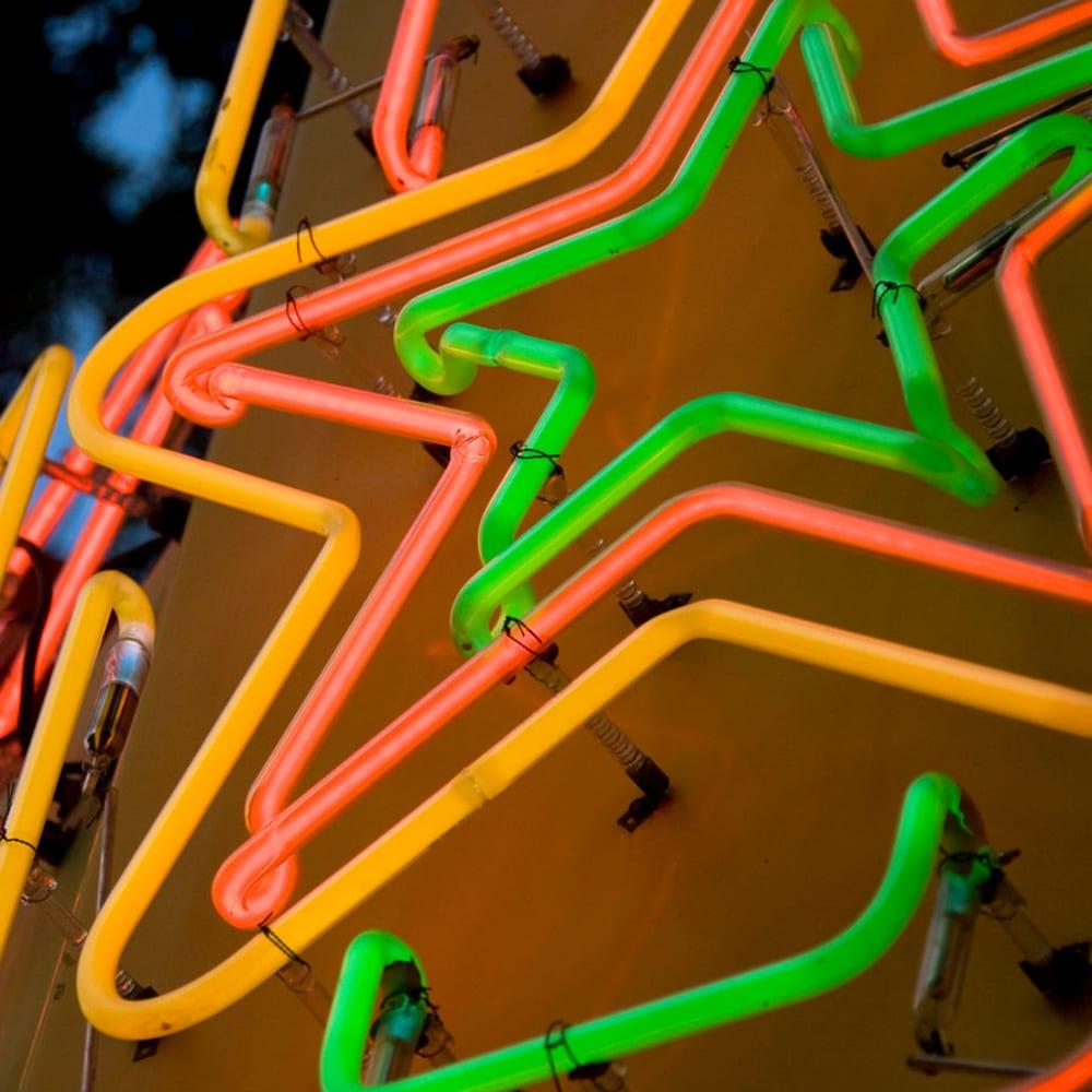 Neon Star near Zoey in Austin, Texas