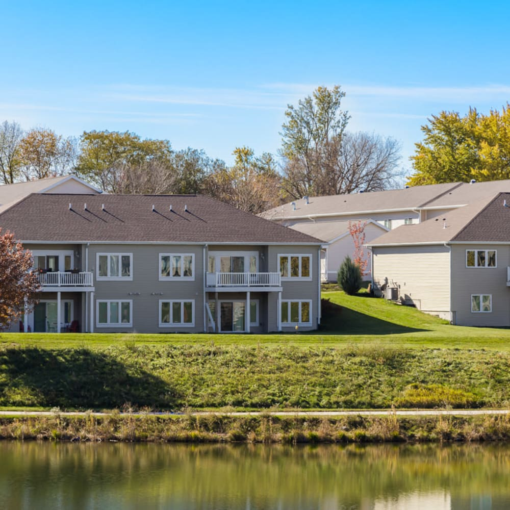 Exterior shot of residence at Glenwood Place in Marshalltown, Iowa.