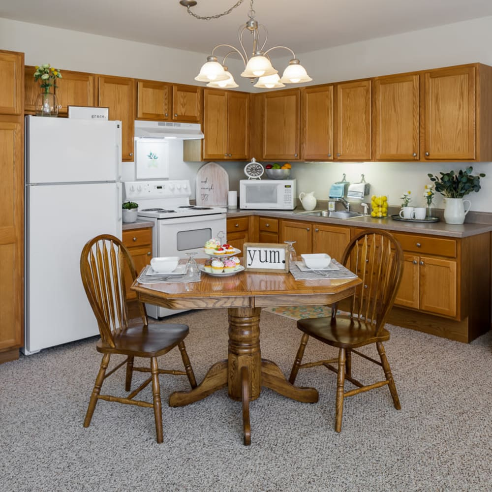 Kitchen in residence at Glenwood Place in Marshalltown, Iowa.