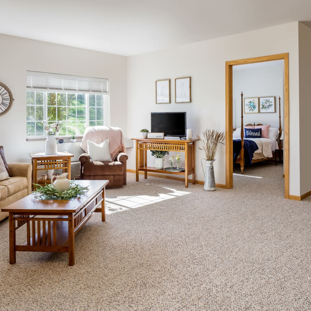 Living room at Glenwood Place in Marshalltown, Iowa.
