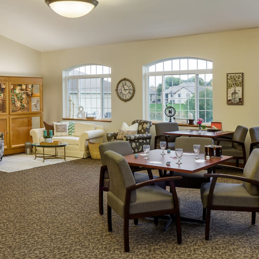 Dining room at Glenwood Place in Marshalltown, Iowa