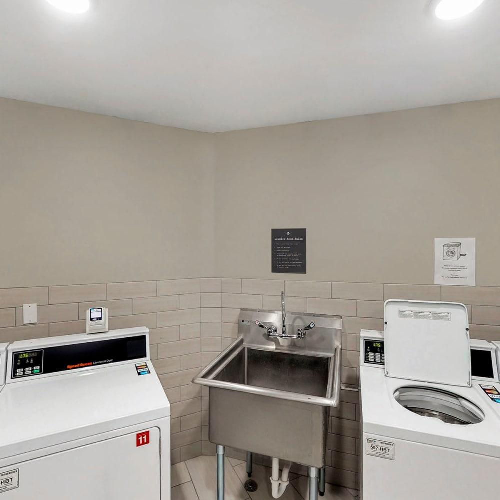 Onsite clothes care facility at Oaks Braemar in Edina, Minnesota