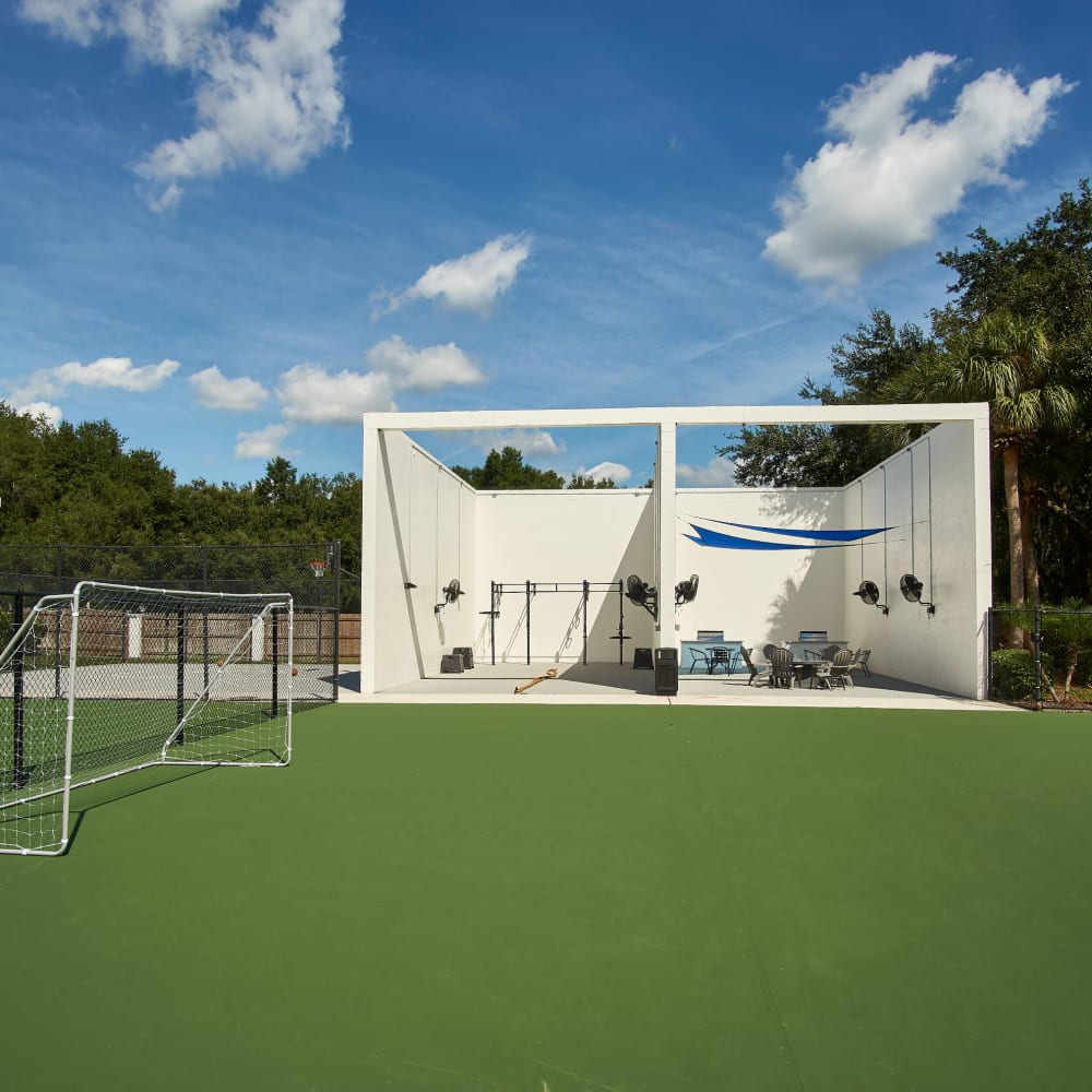 A soccer court at Westwood @60 in Brandon, Florida