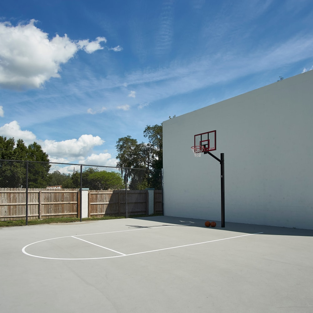 A basketball court at Westwood @60 in Brandon, Florida