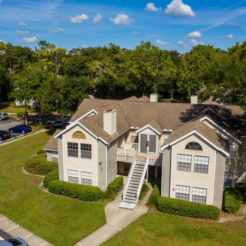 An aerial view of the complex at Avenue @Creekbridge in Brandon, Florida